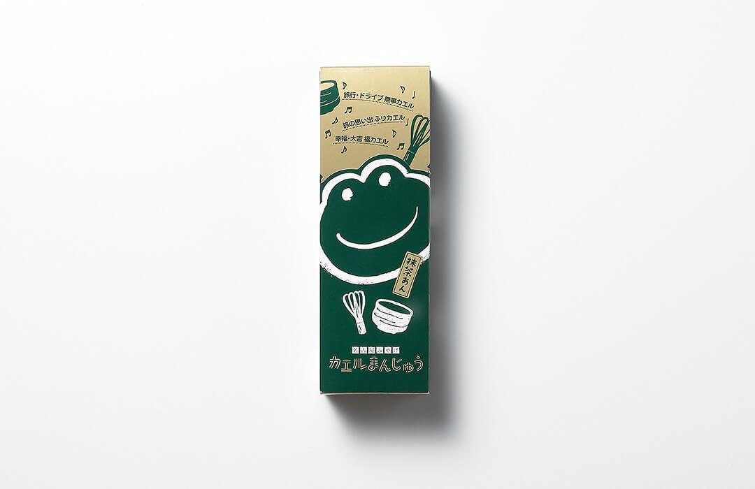 カエルまんじゅう 抹茶あん